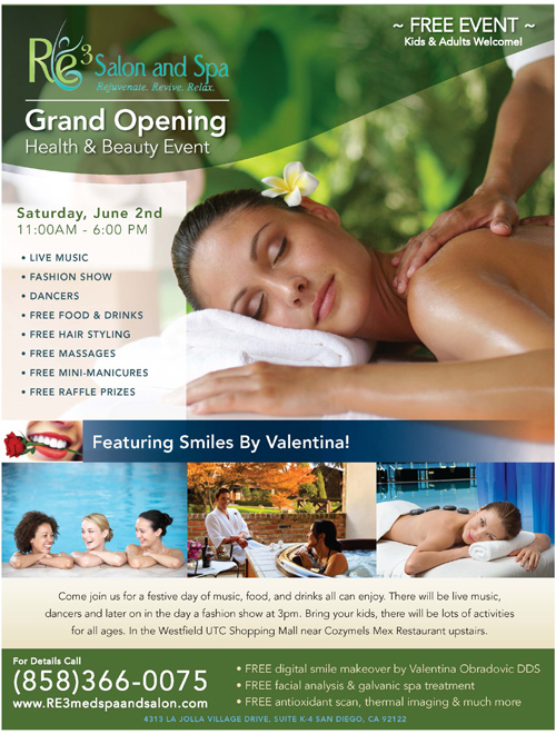 Hair Salon Grand Opening Flyer http://healthygumsandteethnow.com/re3-grand-opening-celebration/